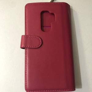 SAMSUNG GALAXY S9/S9 PLUS RED WALLET COIN POCKET